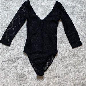 Miss Selfridge Lacy Bodysuit Size 2